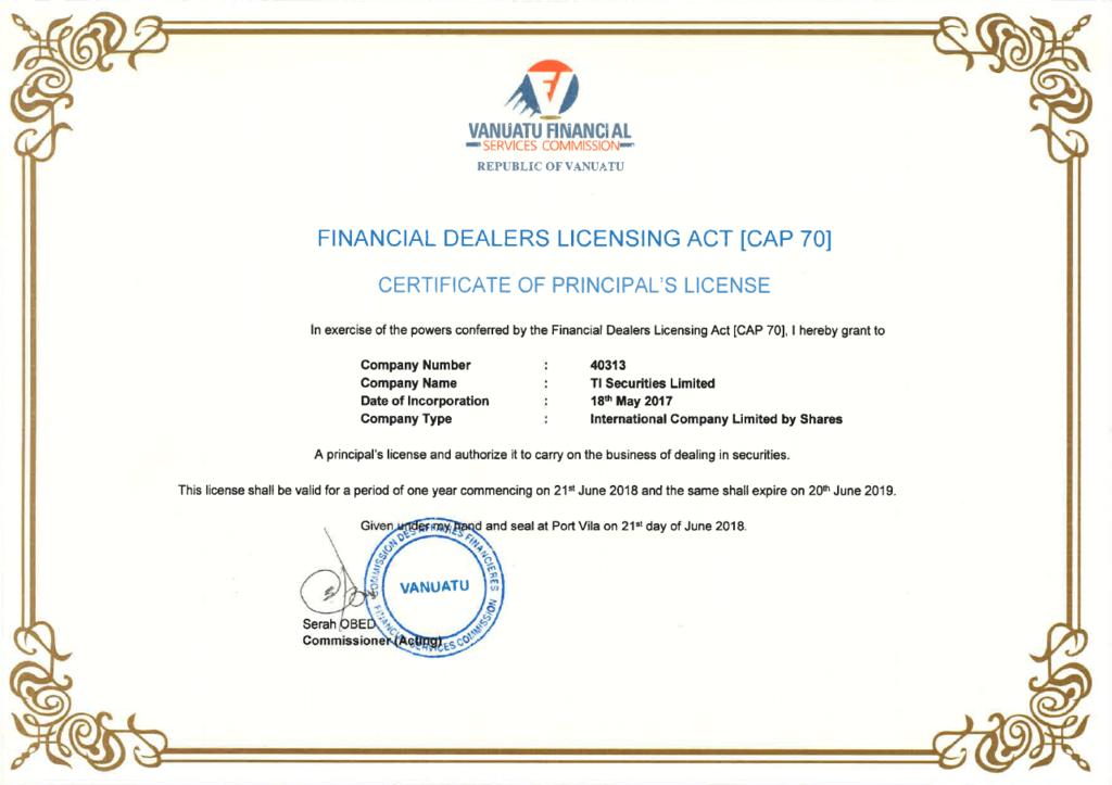 titanfx vfsc証明書